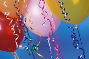Balloons and ribbons